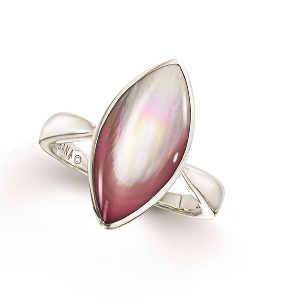 STERLING SILVER PINK MOTHER OF PEARL RING Sanders Diamond Jewelers Pasadena, MD