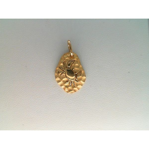 14kt Yellow Gold Crab Charm Sanders Diamond Jewelers Pasadena, MD