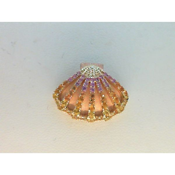 14KT. YELLOW GOLD 0.83CTGW COLORED SAPPHIRE SUNRISE SHELL BY DENNY WONG Sanders Diamond Jewelers Pasadena, MD