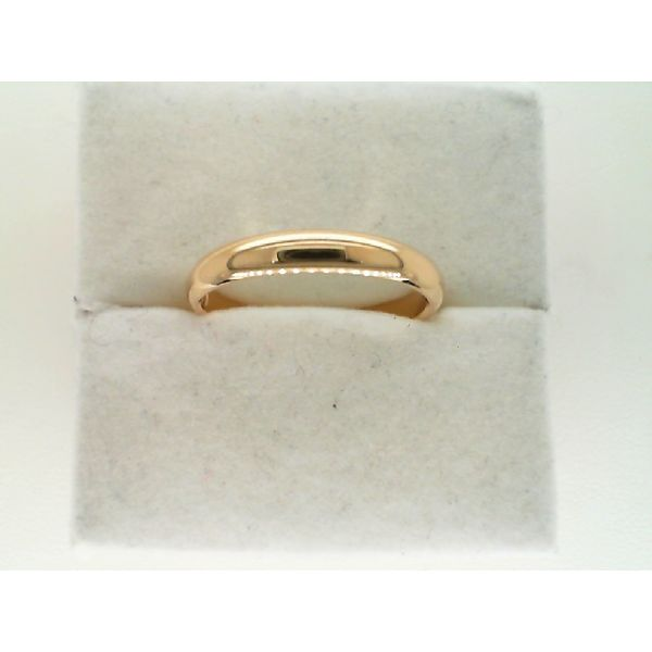 14kt Yellow Gold 3mm Light Comfort Fit Wedding Ring Sanders Diamond Jewelers Pasadena, MD