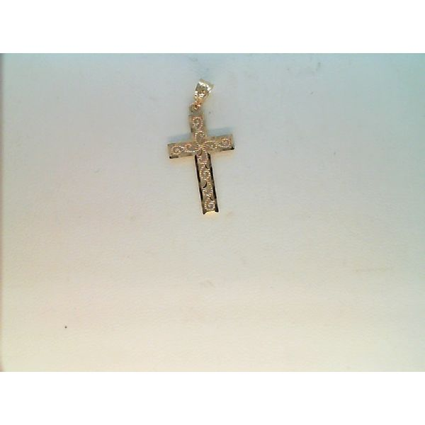 14k Yellow Gold Cross Pendant Sanders Diamond Jewelers Pasadena, MD
