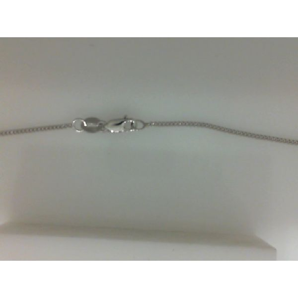 14Kt White Gold 1.0mm Gourmette Chain With Lobster Clasp Sanders Diamond Jewelers Pasadena, MD