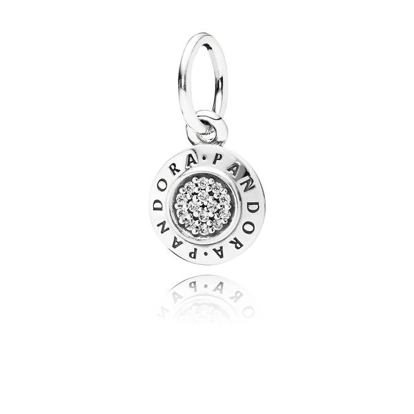 Pandora Signature, Clear Cz Pendant Sanders Diamond Jewelers Pasadena, MD