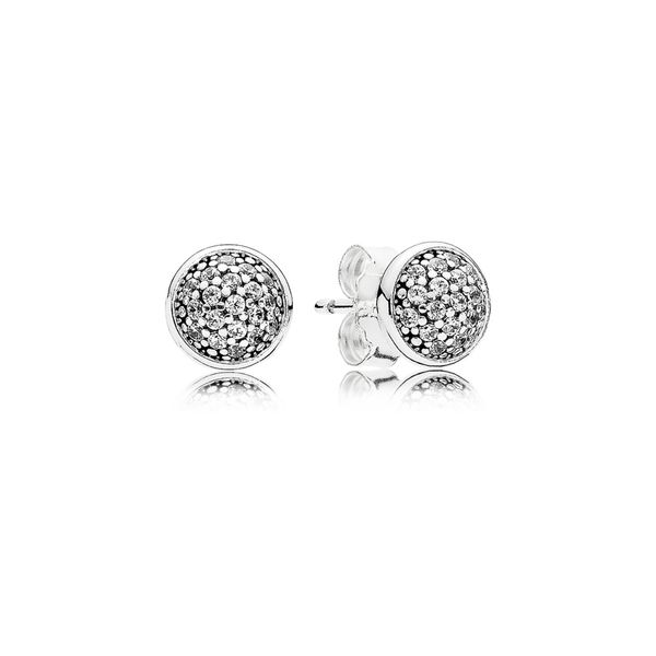 Pandora Stud Earrings Dazzling Droplets with Clear CZ Sanders Diamond Jewelers Pasadena, MD