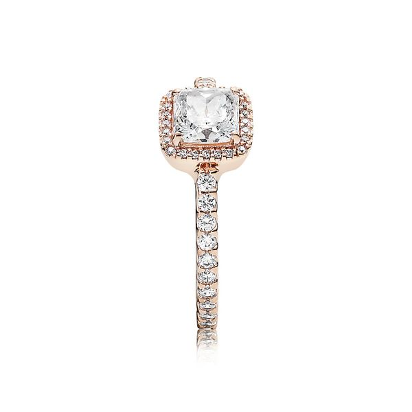 Pandora Rose Ring Timeless Elegance with Clear CZ Size 7.5 Sanders Diamond Jewelers Pasadena, MD