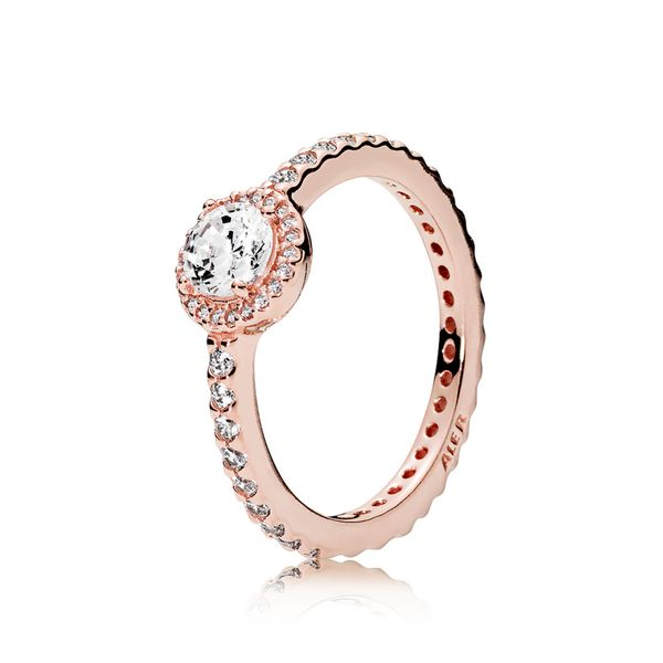 Pandora Rose Classic Elegance Ring with clear CZ Size 9 Sanders Diamond Jewelers Pasadena, MD