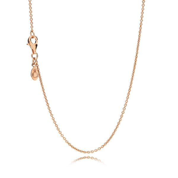 Pandora Sterling Silver Chain with 14k Rose Gold Plating, 45 cm/17.7 in Sanders Diamond Jewelers Pasadena, MD