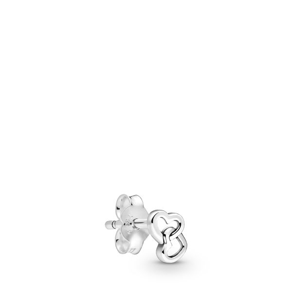 Pandora Me Collection Linked hearts sterling silver stud earring Sanders Diamond Jewelers Pasadena, MD