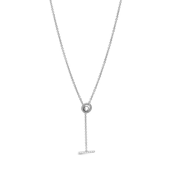Pandora Signature statement necklace sterling silver length 31.5 in Sanders Diamond Jewelers Pasadena, MD