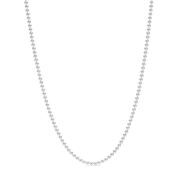 Pandora Beaded sterling silver necklace length 23.6in Sanders Diamond Jewelers Pasadena, MD