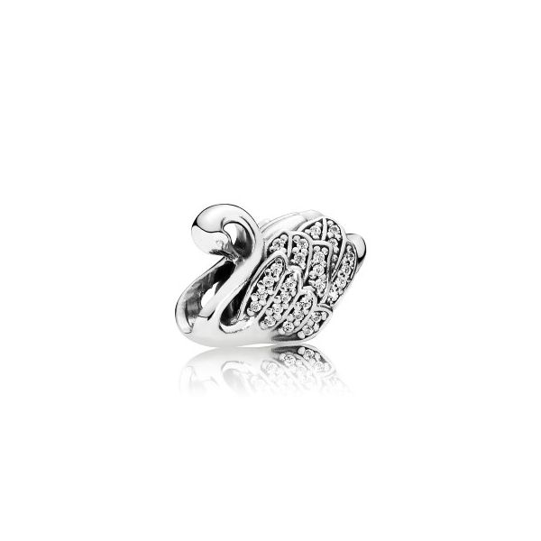 Pandora Sterling Silver Majestic Swan, Clear CZ Charm *Retired* Sanders Diamond Jewelers Pasadena, MD