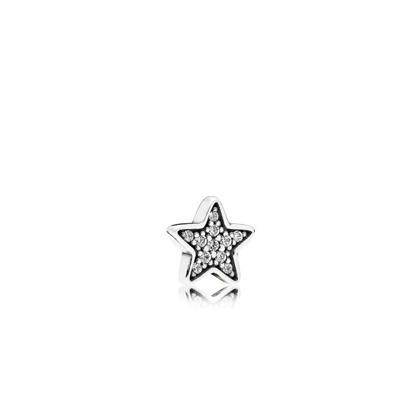 Pandora Star petite element in sterling silver with 11 pave' set clear CZ for Pandora Floating Locket Sanders Diamond Jewelers Pasadena, MD