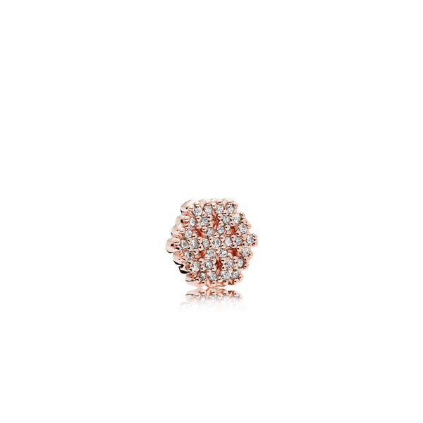 Pandora Rose Snowflake petite element with 31 micro bead-set clear CZ for Pandora Floating Locket *Retired* Sanders Diamond Jewelers Pasadena, MD