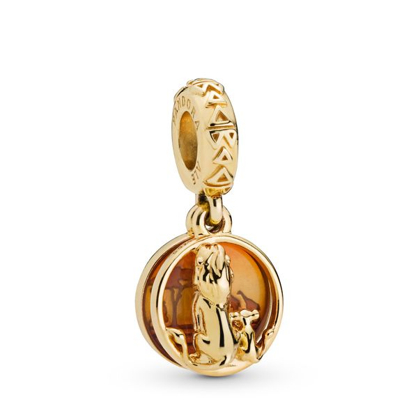 Pandora Shine Disney Simba and Mufasa dangle with orange enamel Sanders Diamond Jewelers Pasadena, MD