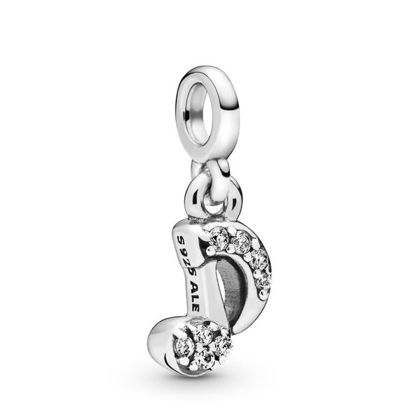 Pandora Me Collection Musical note sterling silver dangle charm with clear CZ Sanders Diamond Jewelers Pasadena, MD