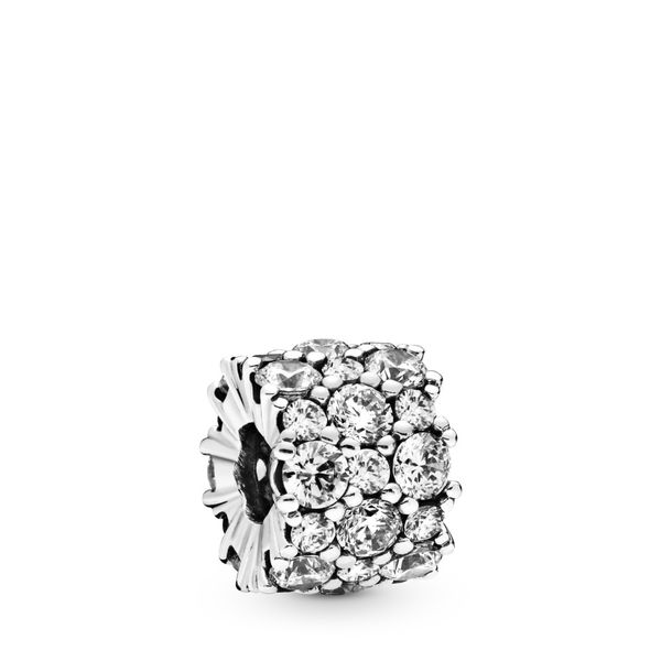 Pandora Sterling silver charm with clear CZ Sanders Diamond Jewelers Pasadena, MD