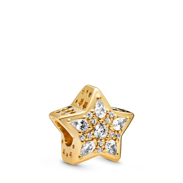 Pandora Shine Star charm with clear CZ Sanders Diamond Jewelers Pasadena, MD