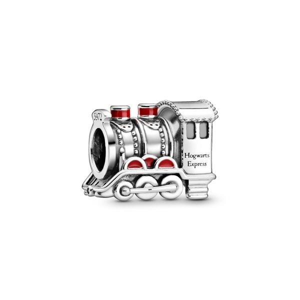 Pandora Harry Potter, Hogwarts Express sterling silver charm with red enamel Sanders Diamond Jewelers Pasadena, MD