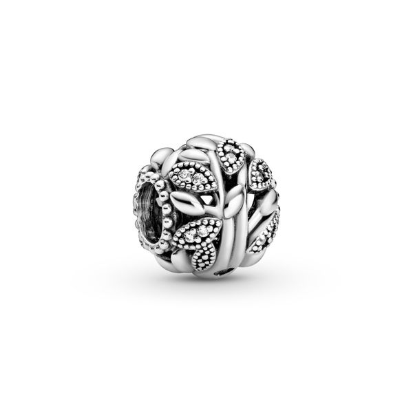 Pandora Family tree sterling silver charm with clear CZ Sanders Diamond Jewelers Pasadena, MD