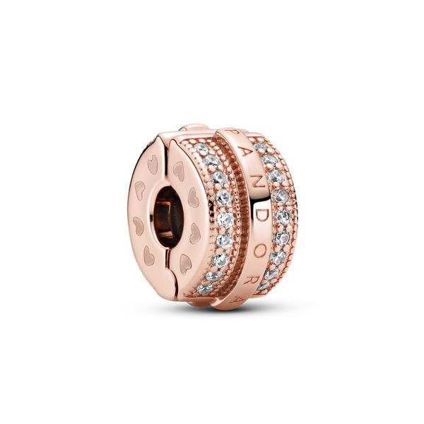 Pandora Rose Signature Charm Clip Sanders Diamond Jewelers Pasadena, MD