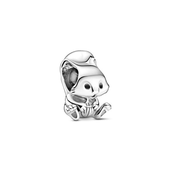 Pandora Squirrel sterling silver charm with black enamel Sanders Diamond Jewelers Pasadena, MD