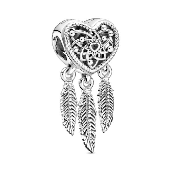 Pandora Dreamcatcher sterling silver heart charm Sanders Diamond Jewelers Pasadena, MD