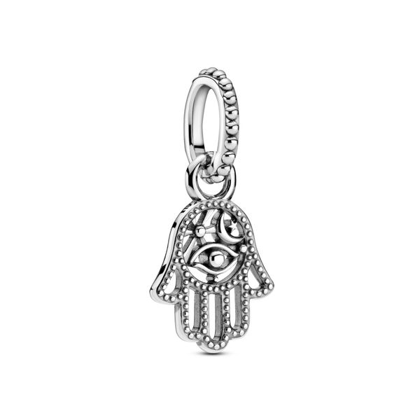Pandora Hamsa hand sterling silver dangle Sanders Diamond Jewelers Pasadena, MD