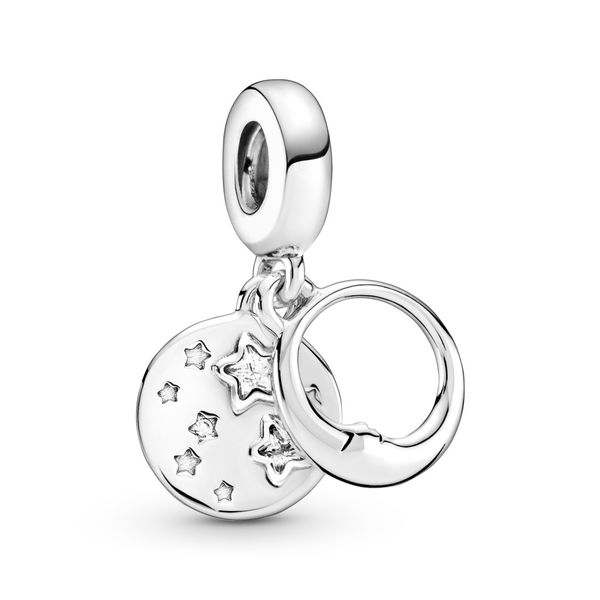 Pandora Moon and star sterling silver dangle Sanders Diamond Jewelers Pasadena, MD