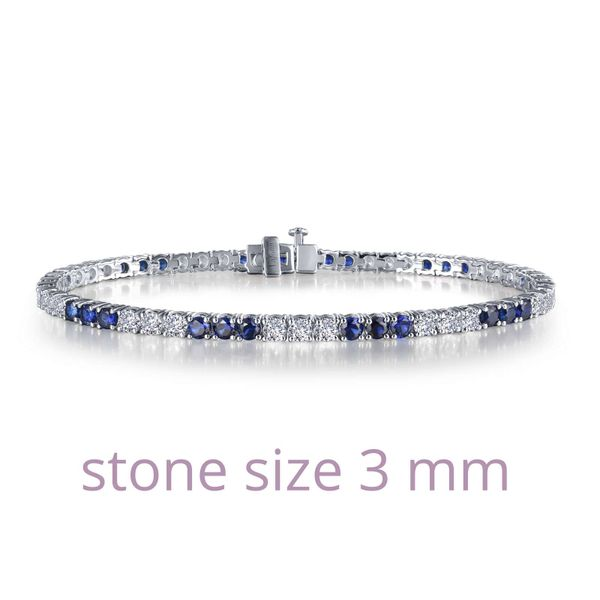 Tennis Bracelet Is Set With Lafonn's Signature Lassaire S And Lab-Grown Sapphires In Sterling Silver Bonded With Platinum. . Sanders Diamond Jewelers Pasadena, MD