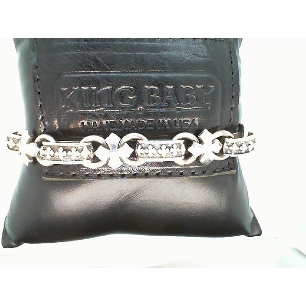 STERLING SILVER MALTESE  CROSS LIGHT LINK BRACELET 8.75