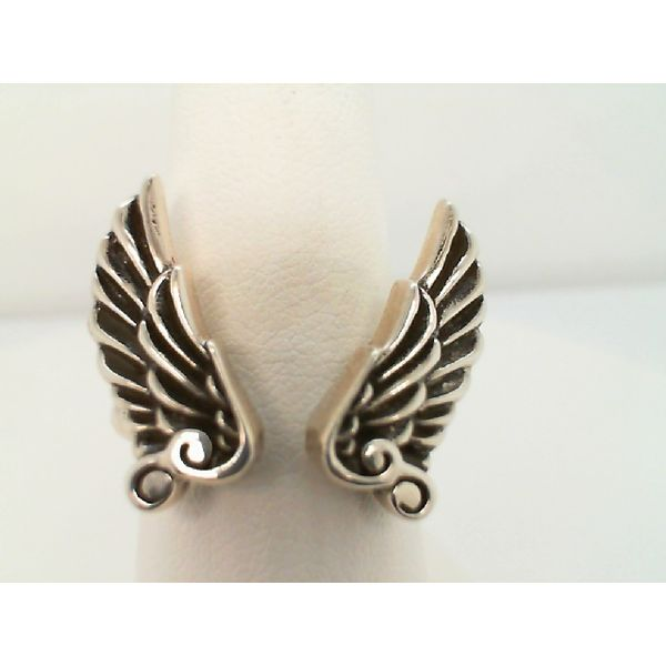 STERLING SILVER OPEN RING WITH WINGS, SIZE 9 Sanders Diamond Jewelers Pasadena, MD