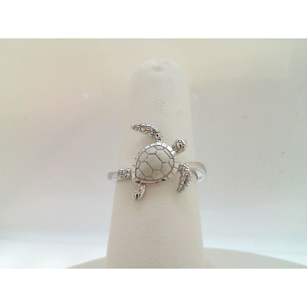 STERLING SILVER TURTLE RING SIZE 7 Sanders Diamond Jewelers Pasadena, MD