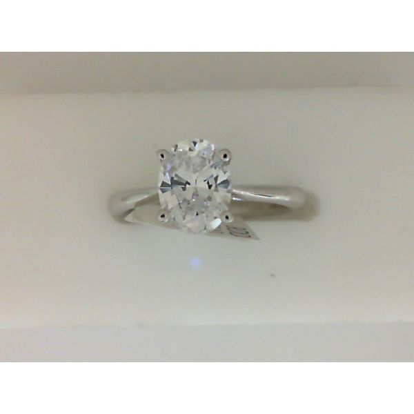 Sterling Silver Oval Cubic Zirconia Naledi Engagement Ring Sanders Diamond Jewelers Pasadena, MD