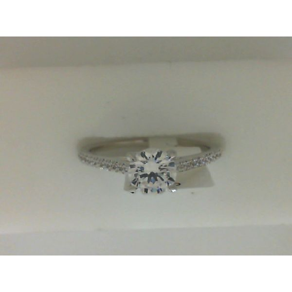 Sterling Silver Cubic Zirconia Engagement Ring Sanders Diamond Jewelers Pasadena, MD