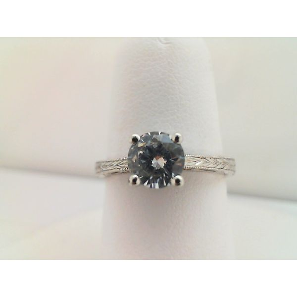 Sterling Sliver  Cubic Zirconia Vintage Engagement Ring Sanders Diamond Jewelers Pasadena, MD