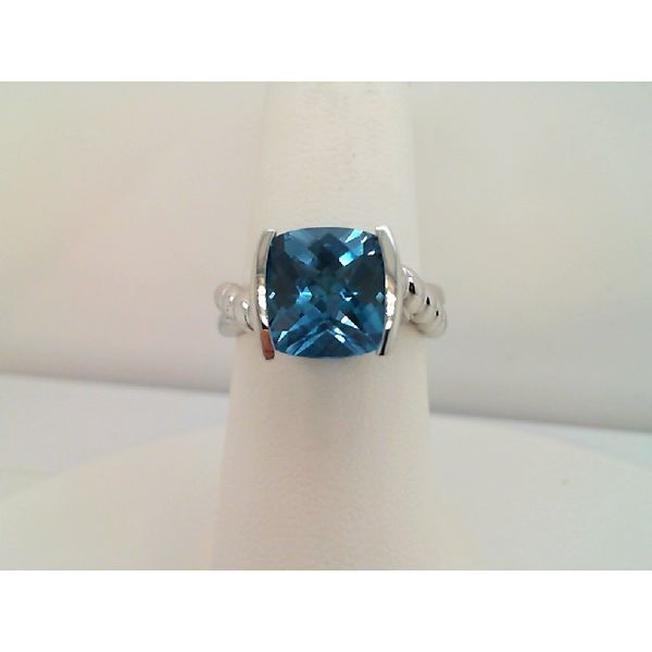 Sterling Silver Swiss Blue Topaz Ring Image 2 Sanders Diamond Jewelers Pasadena, MD
