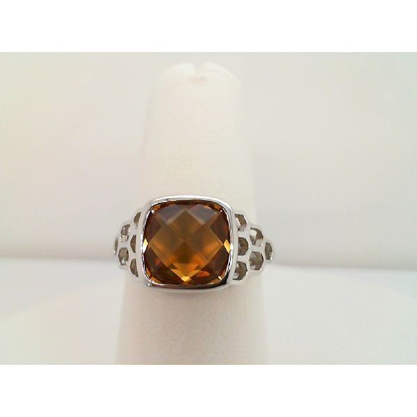 Sterling Silver Cushion Cut Citrine Ring Sanders Diamond Jewelers Pasadena, MD
