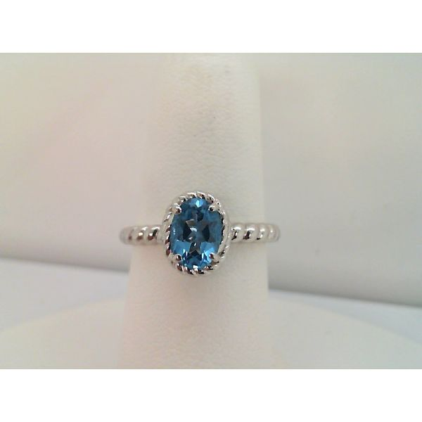 Sterling Silver Oval Swiss Blue Topaz Ring Sanders Diamond Jewelers Pasadena, MD