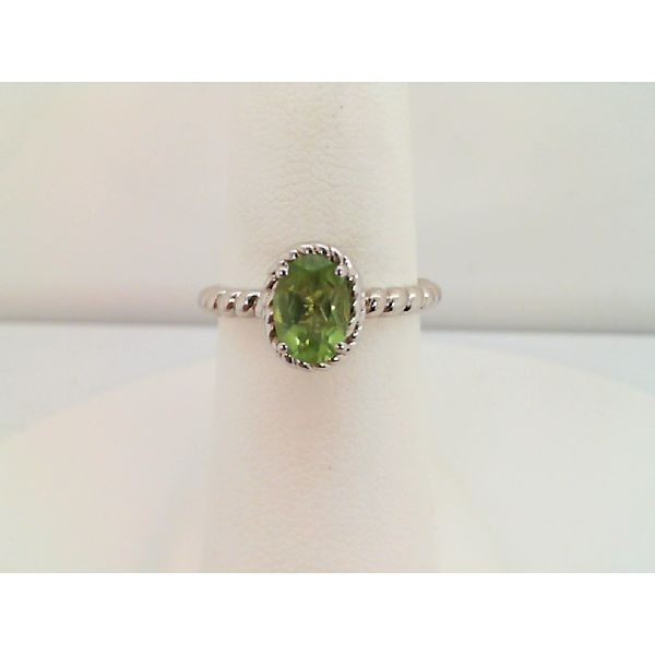 Sterling Silver Oval Peridot Ring Sanders Diamond Jewelers Pasadena, MD