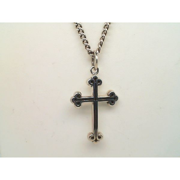 STERLING SILVER EXTRA SMALL TRADITIONAL CROSS ON 24