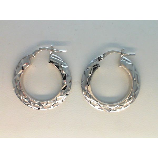 STERLING SILVER AND ROSE PLATED D/C DANGLE CIRCLE EARRINGS Sanders Diamond Jewelers Pasadena, MD