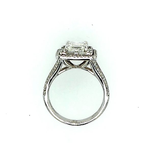 Simon G 18 Karat White Gold Asscher Cut Ring 2.77ctw Image 2 Saxons Fine Jewelers Bend, OR