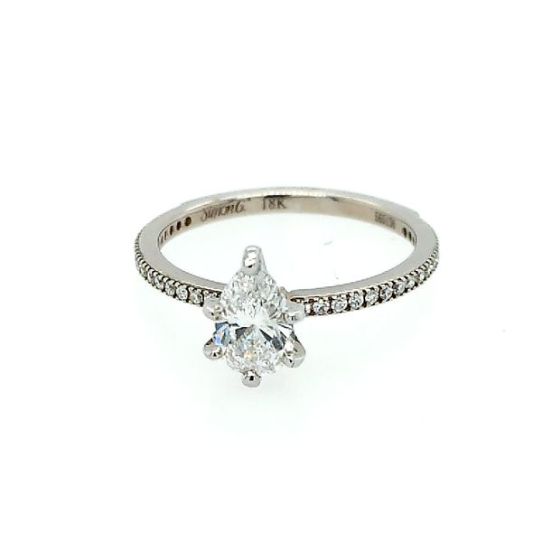 Saxons 18 Karat White Gold Pear Diamond Engagement Ring 0.75ctw Saxons Fine Jewelers Bend, OR