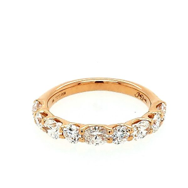 18 Karat Rose Gold Oval Diamond Wedding Band Saxons Fine Jewelers Bend, OR