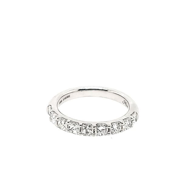Platinum Radiant Diamond Wedding Band Saxons Fine Jewelers Bend, OR