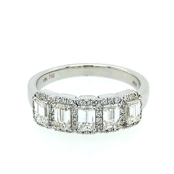 18 Karat Emerald Cut Diamond Wedding Band Saxon's Fine Jewelers Bend, OR