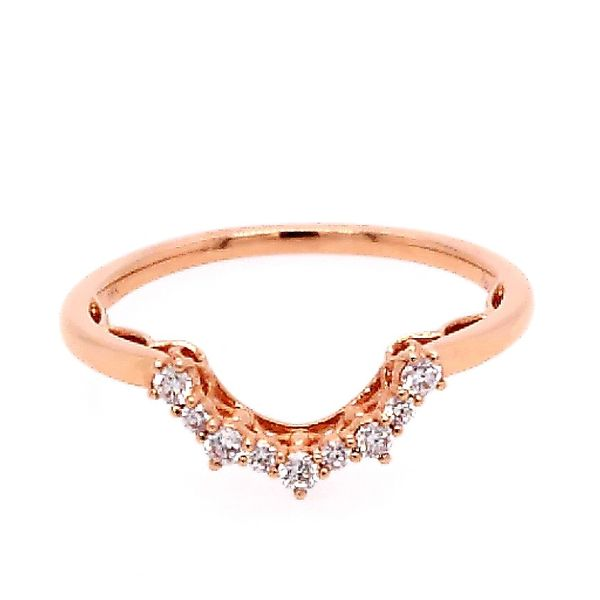 18 Karat Rose Gold Curved Wedding Band Saxon's Fine Jewelers Bend, OR