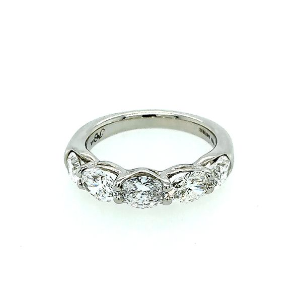 Oval Diamond Wedding Band Saxons Fine Jewelers Bend, OR