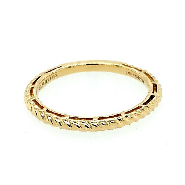 Gabriel & Co. 14K Yellow Gold Twisted Rope Stackable Ring Saxon's Fine Jewelers Bend, OR