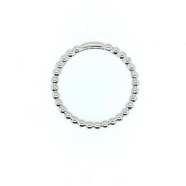 Gabriel & Co. 14K White Gold Bujukan Beaded Stackable Ring Image 2 Saxons Fine Jewelers Bend, OR